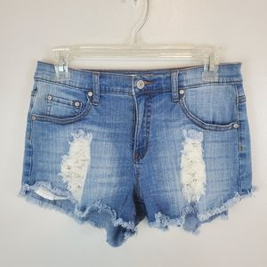 Altard State Distressed Lace Cut Off Shorts 27.